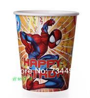 8 stk Papirkopp - Spiderman