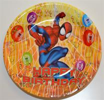 Papptallerken - Spiderman