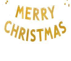 1 set MERRY CHRISTMAS Banner
