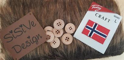 Tilbehør Norsk Strikkeanorakk Barn BRUN fuskepels