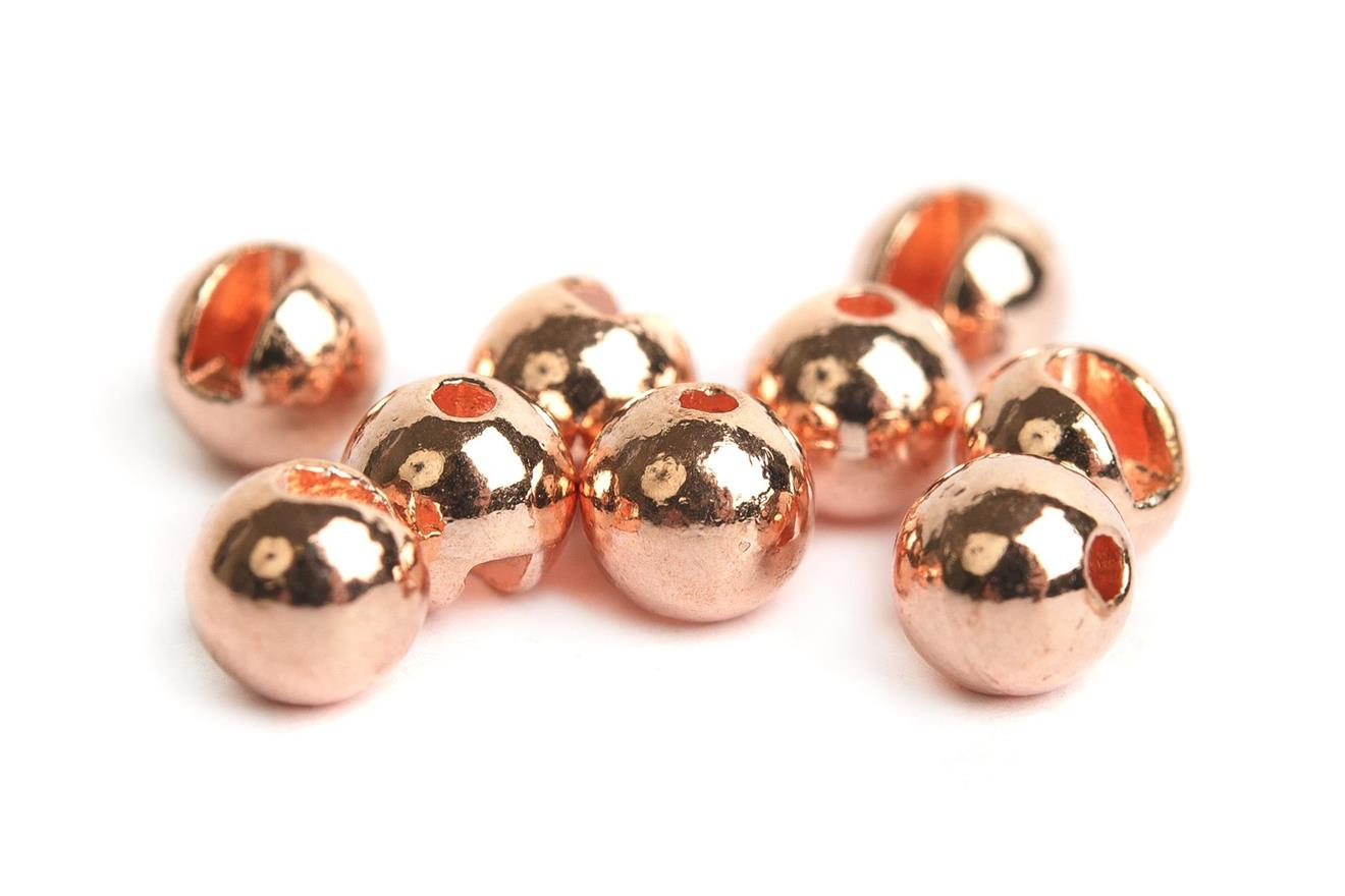 Slotted Tungsten Beads 4,0mm - Copper