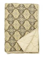 Nordal quilt, dusty green/sand/black