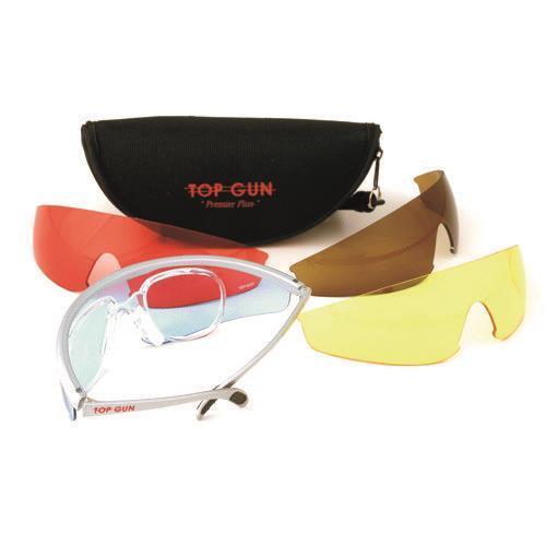 Top gun skytebrille m/5 glass for innfatning