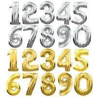 Tall folie  - Gull eller Sølv 40 cm
