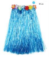 Hawaii Hula Skjørt 80 cm Blå