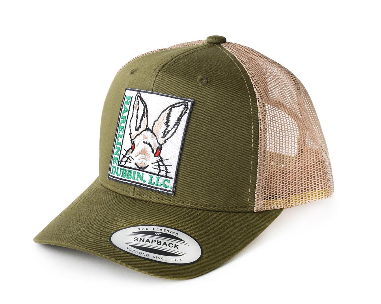 MOSS GREEN TRUCKER HARELINE CAP #1