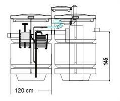 HS biopuhdistamo 2000 l / 24 H