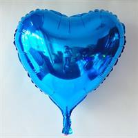 Folie -  hjerteform  / Blå 4 stk