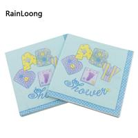 20 stk Blå Serviett - Baby Shower