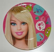 6 stk StorPapptallerken - Barbie
