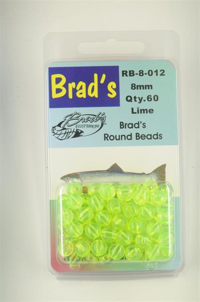 Brad`s Round Beads 8mm 60st Lime