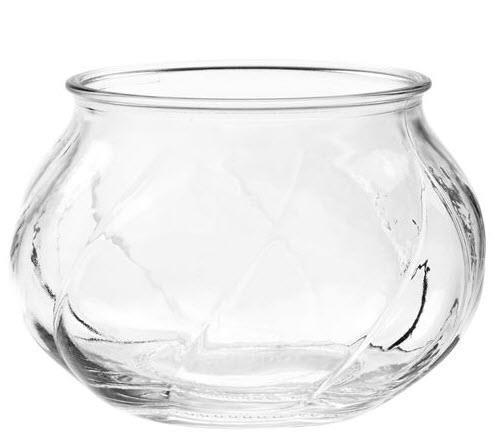 Vase klart glass 8 cm
