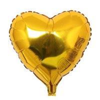 Hjerte Folie Ballong Gull