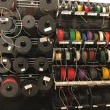Tygomspunnen elkabel i olika färger