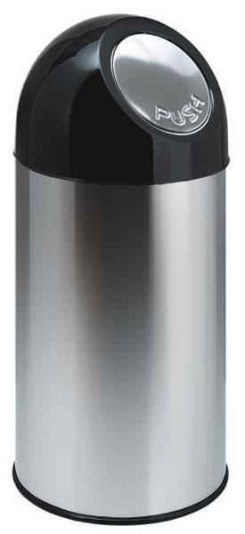 Avfallsbeholder i metall, 40 l, grå