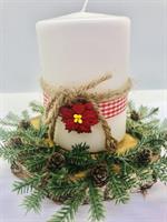 Ferdig laget julelys på treplate