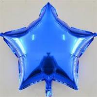 Folie - stjerne / blå 4 stk