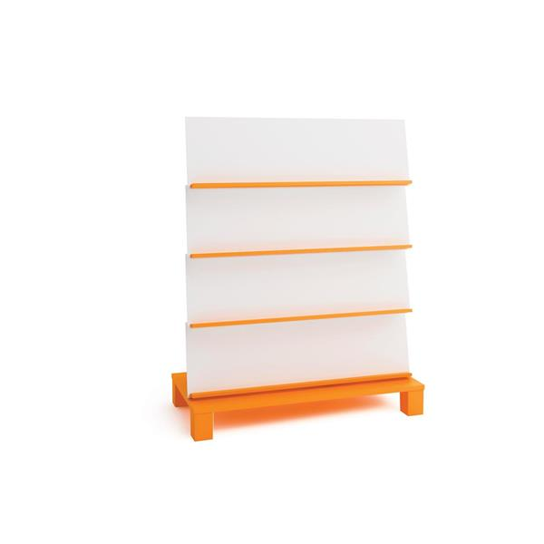 Elis enkelsidig bokhylla h116cm orange