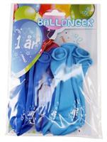 Tinka ballonger 8 pk 1 år Blå