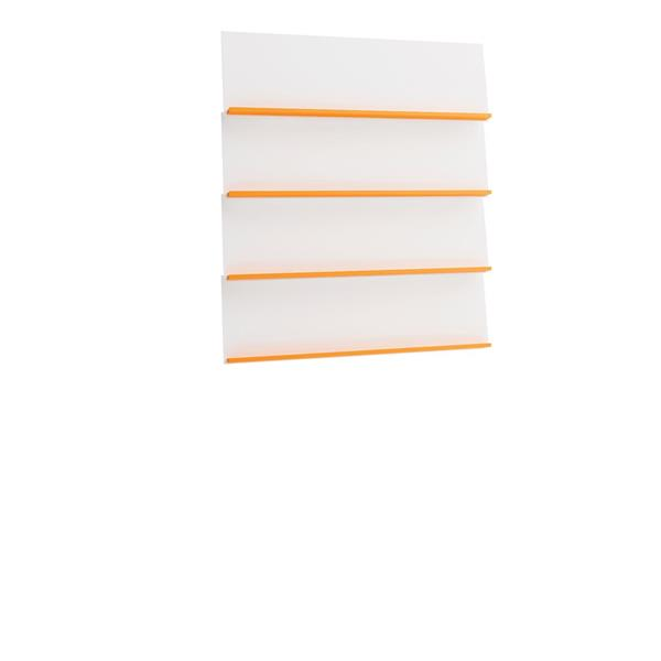 Elis vägghängd bokhylla orange