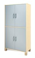 Ornö högskåp med 4 dörrar grå