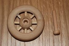 Veteranbilhjul med aksel