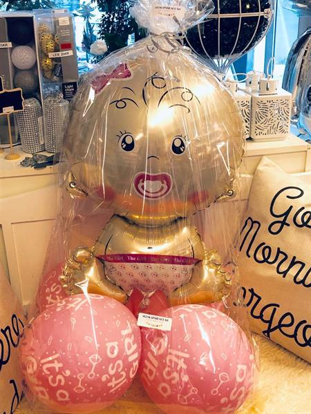 Baby Shower Folie Ballong Jente i cellofan