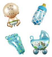 Folie - Babyshower - gutt / blå