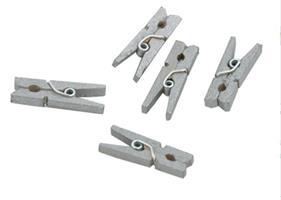 50 stk Minitreklyper 25mm Sølv Grå