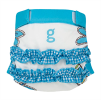 gDiapers Girly Twirly Blue gPants Small