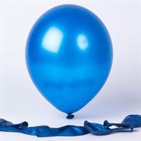 Lateks- Metallisk blå ballong