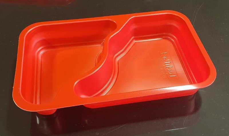 PP-form 2-fack röd, 1/4 GN 300 st