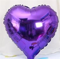 Folie Hjerte Ballong - 32 cm Lavendel