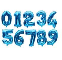 Tall Folie Ballong Blå 40 cm