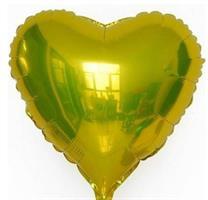 Folie Hjerte Ballong 45 cm Gull 2 stk