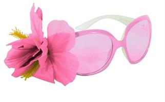 Blomsterbrille rosa