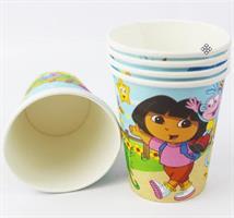 6 stk Papirkopp - Dora