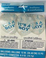 It's a boy konfetti ballong