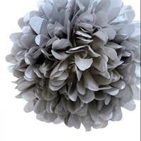 Pom Poms - Gray  30cm