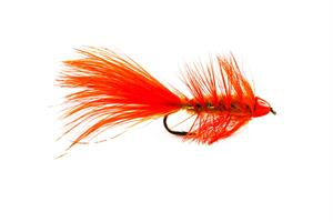 Wolly Bagger Orange Cone Head Streamer #8