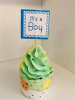 12 stk It's a Boy Cupcake topper