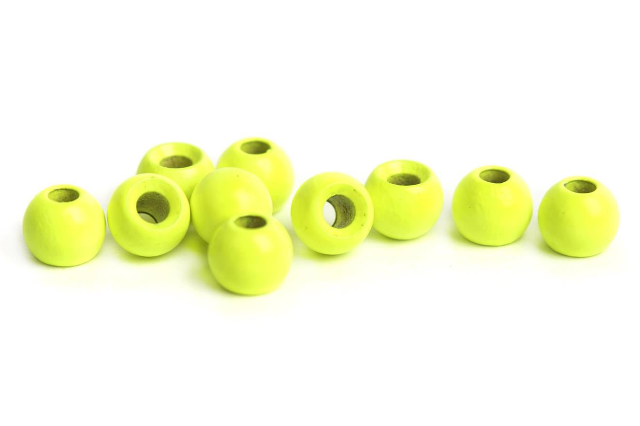 Brass beads 4.0mm - Fluo Chartreuse