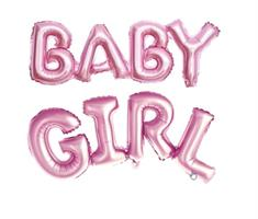 Baby Girl folie ballong rosa