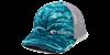 Costa mossy oak elements fishing camo mesh cap blue