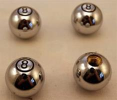 Ventilhattar eightboll kromad