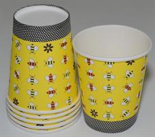 6 Stk Papir Kopp - Bie Mønster