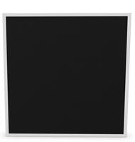 Ljudabsorbent Anslagstavla 160x120x5 cm svart