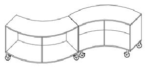 Reggio 2-fack vit svängd H47 cm ingen topp