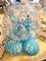 Baby Shower Folie Ballong Gutt i cellofan
