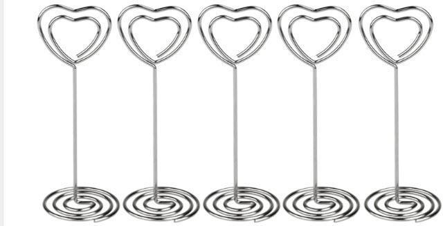 Metal Hjerte bordkortholder